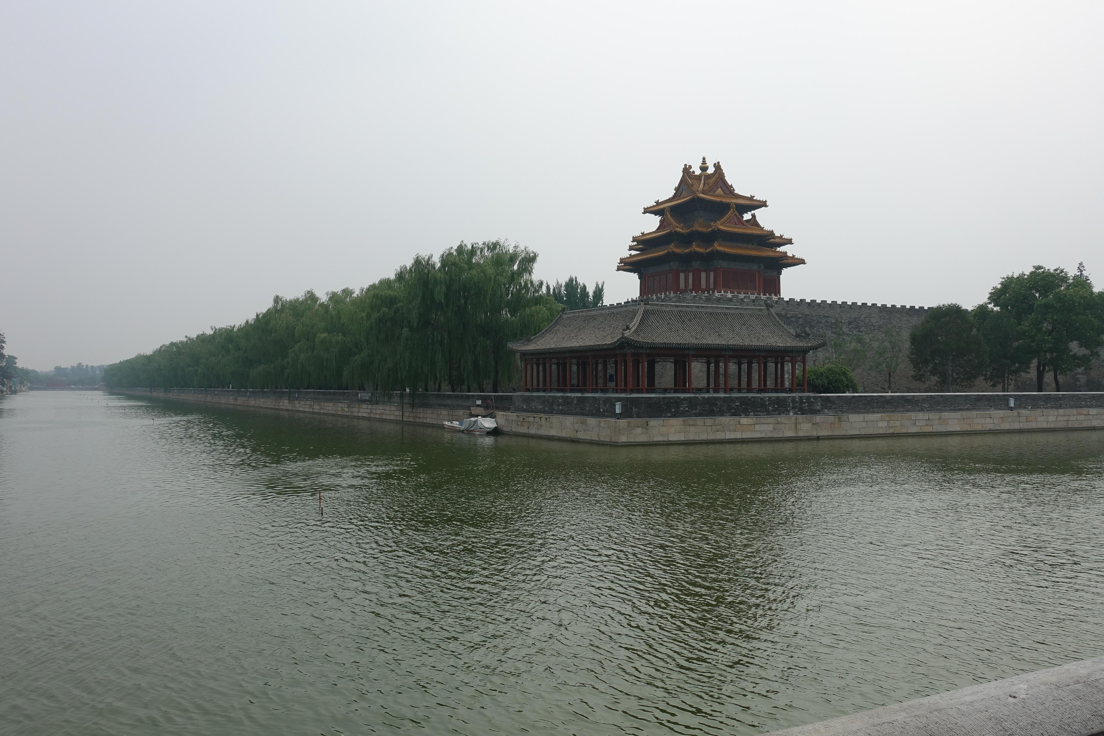 The moat around the Forbidden Palace