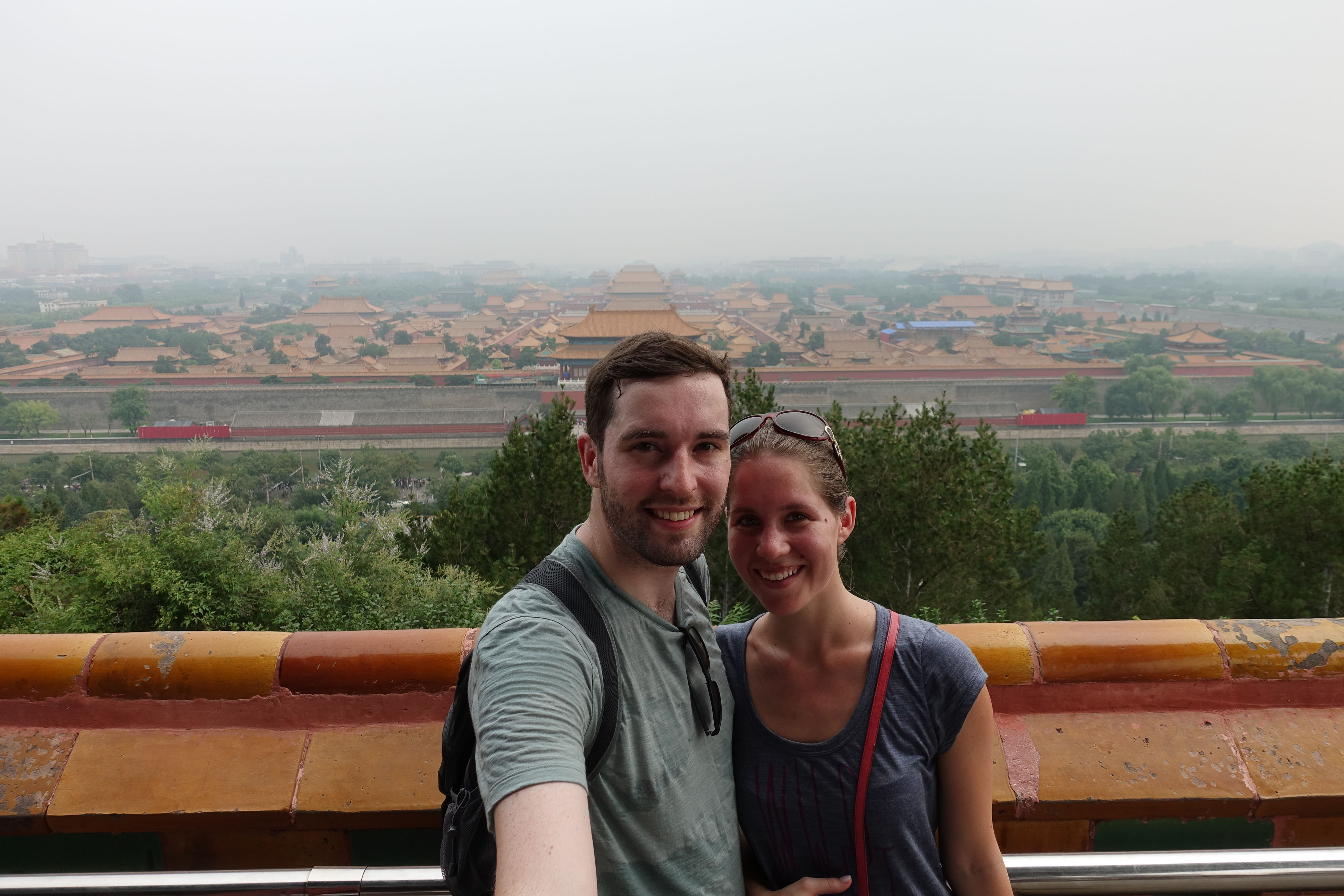 View on to the Forbidden Palace from Jingshan park