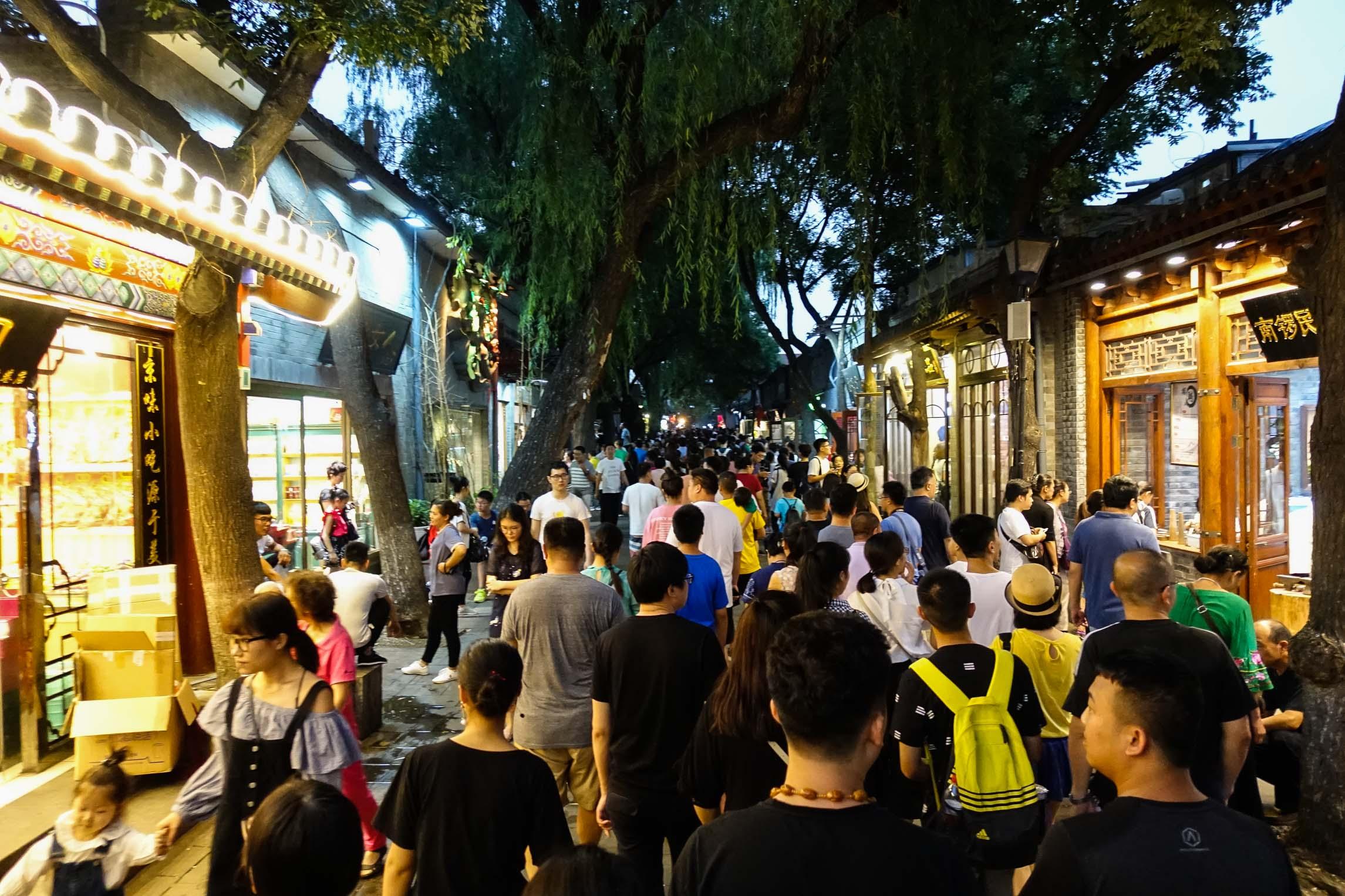 Busy street food street