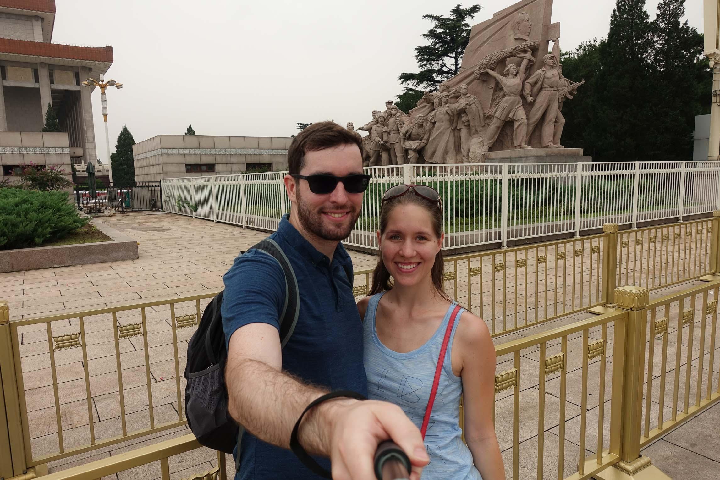 Very communist-y statue on Tiananmen square