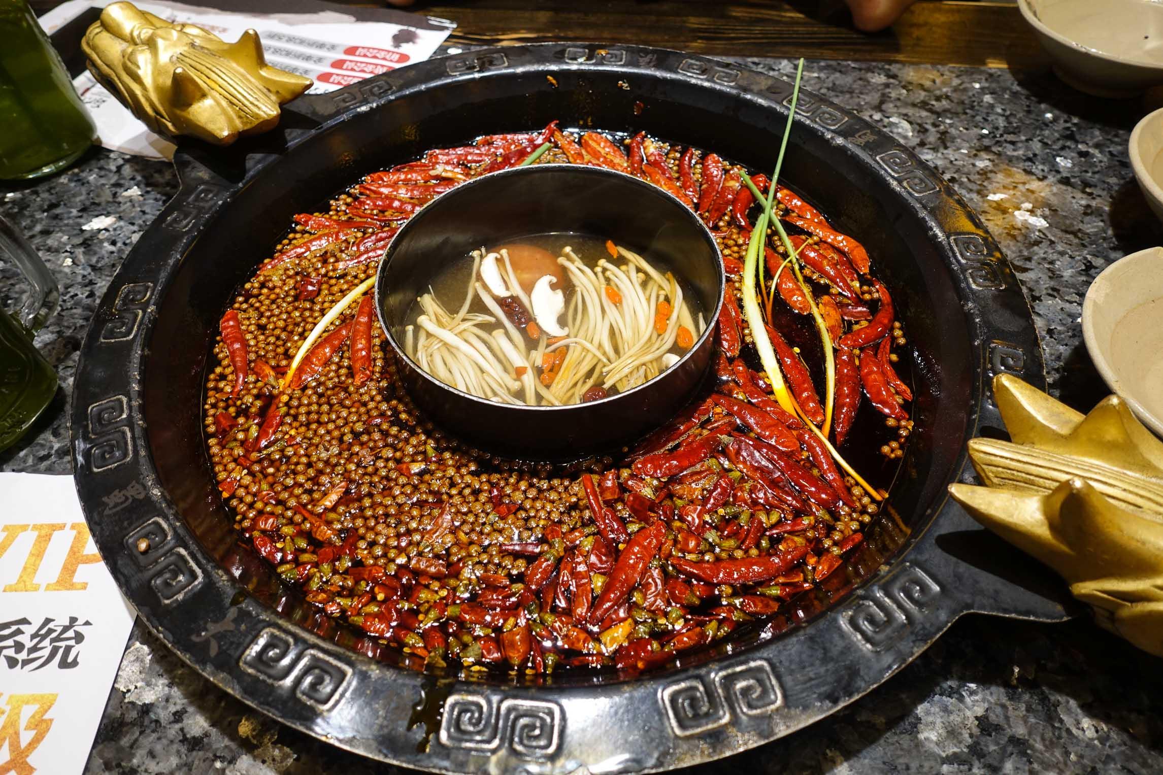 Sichuan hot pot in Chengdu