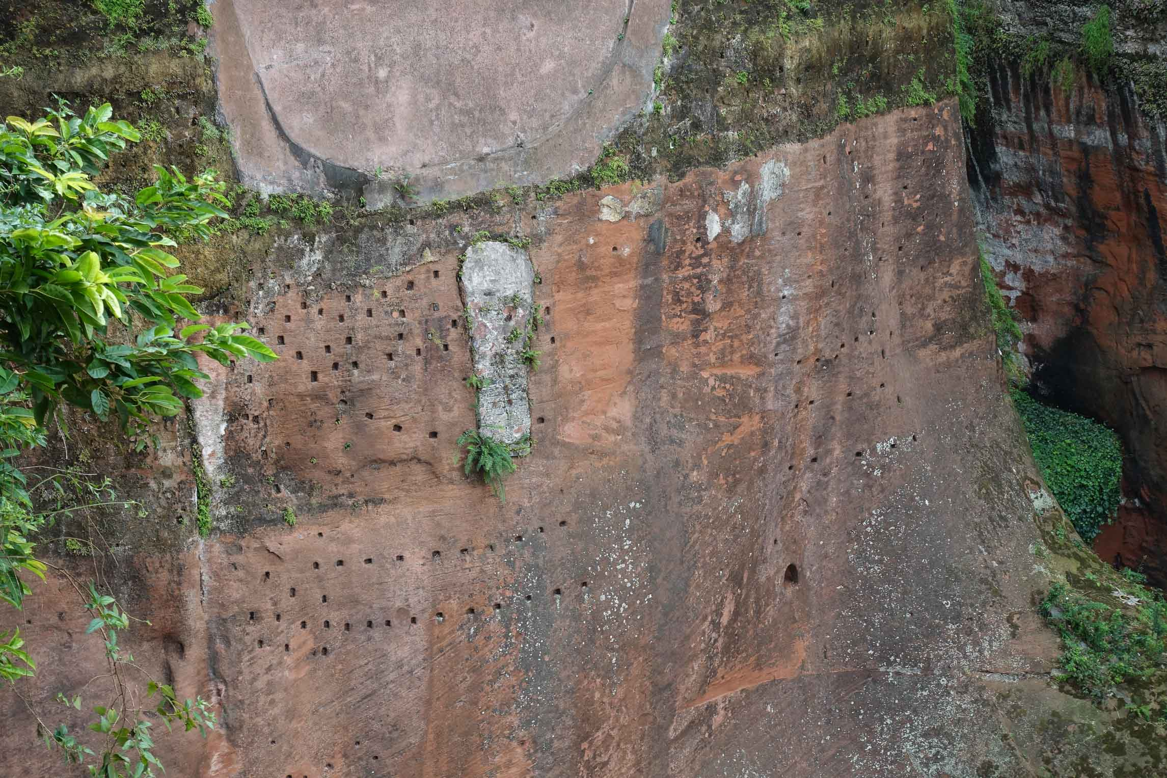 Drainage system in Leshan Giant Buddha