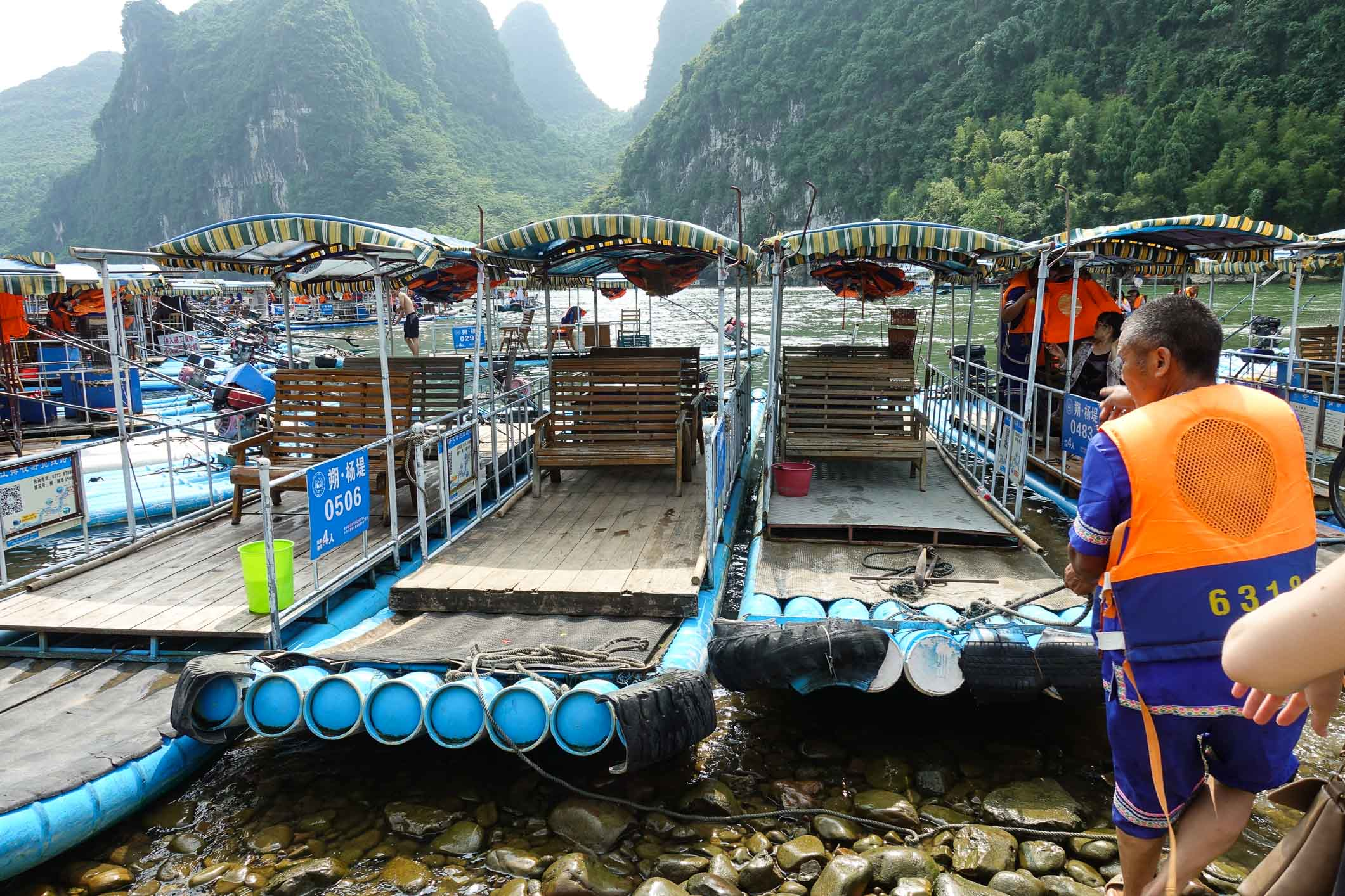 Bamboo boats on the Li river