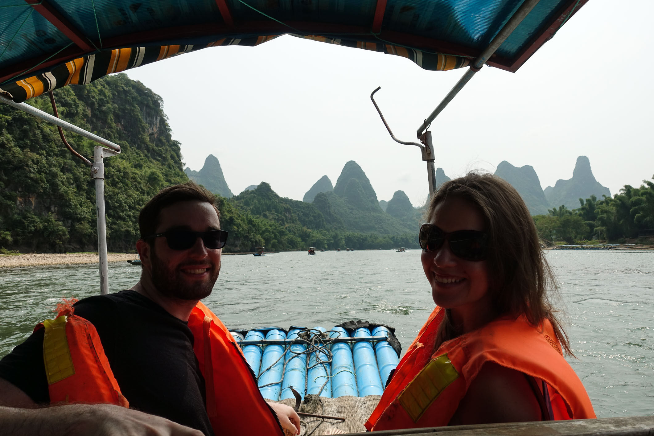 Akos and Petra on the Li river