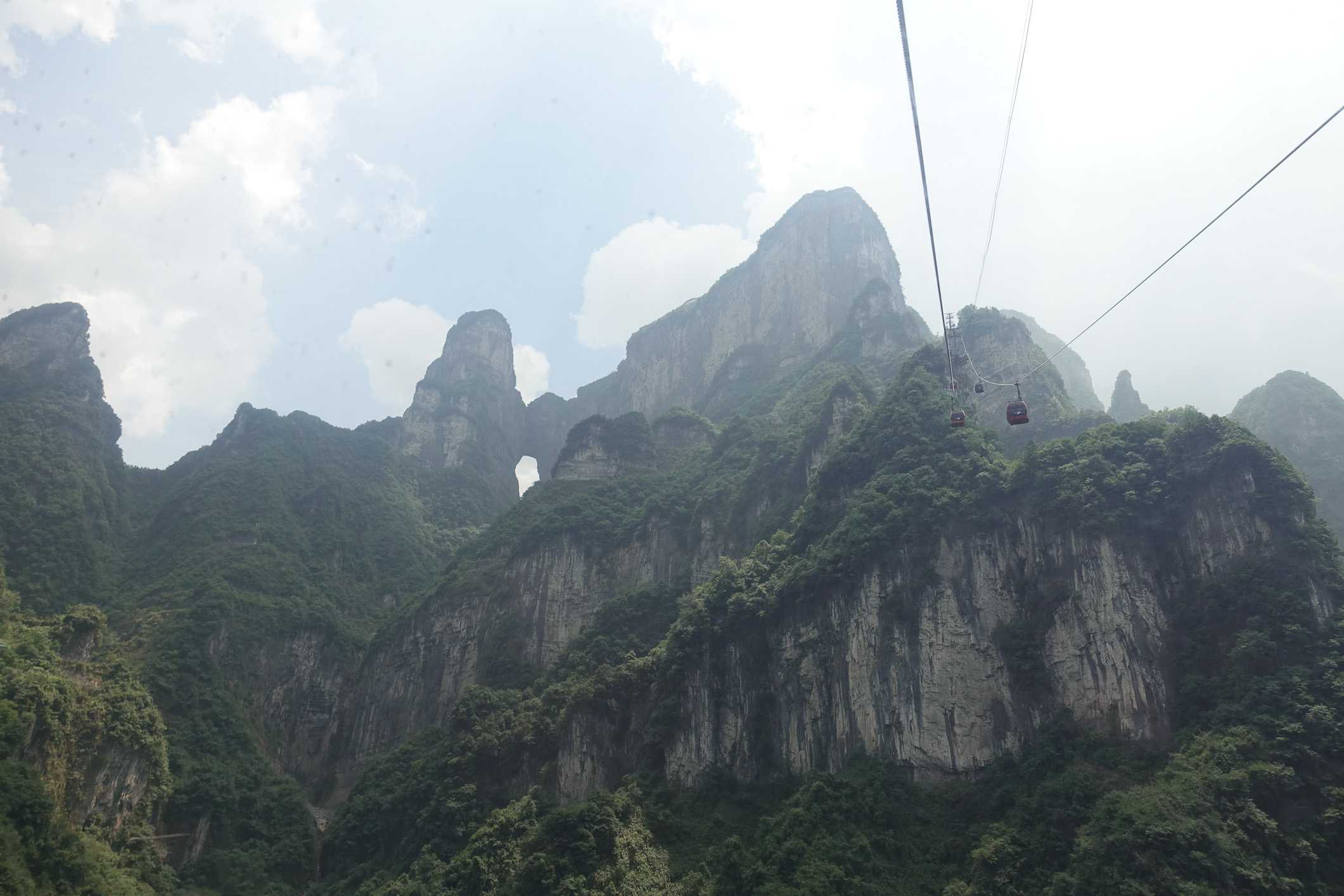 Cable car up to Tianmen Mountain