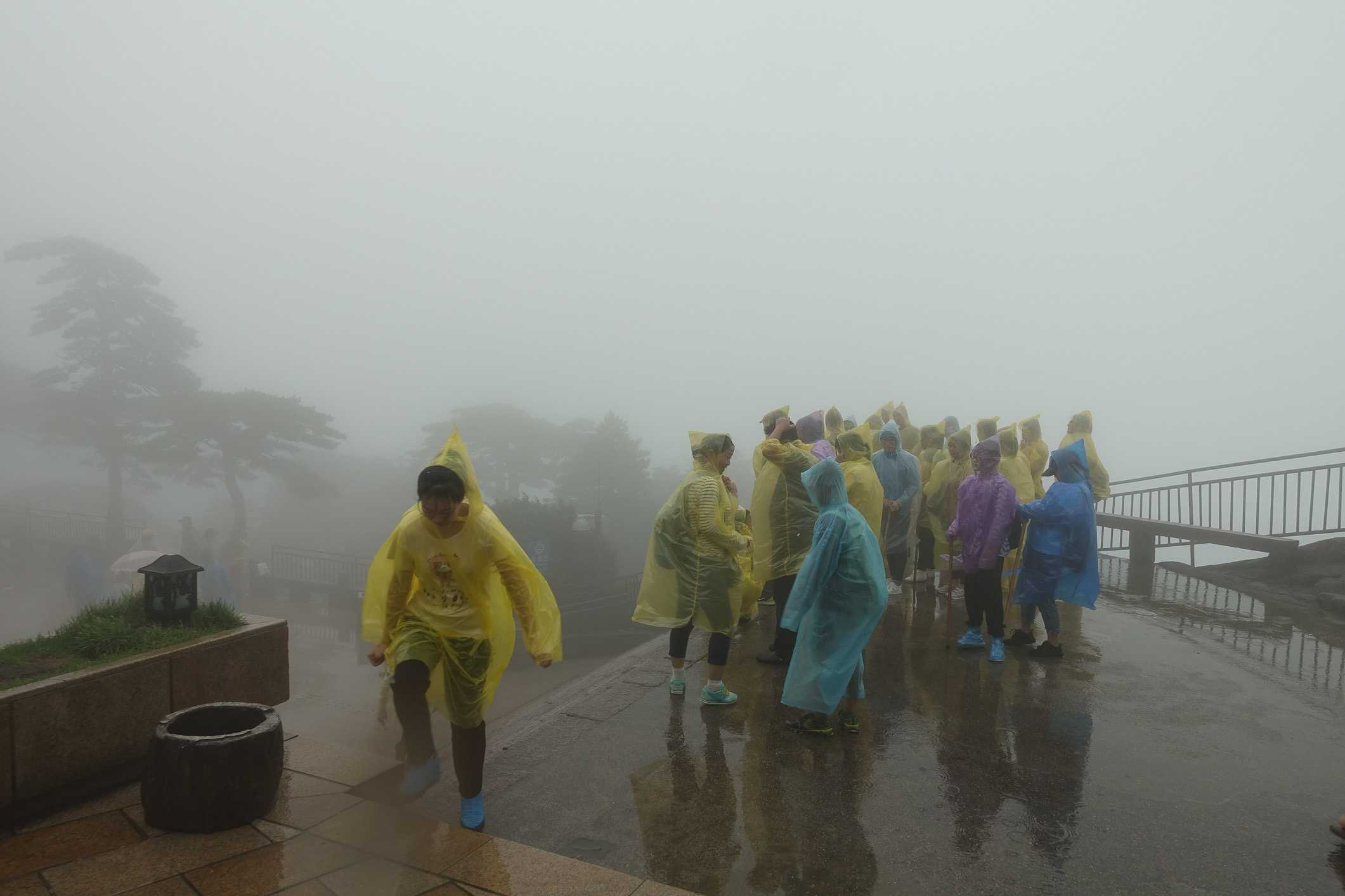Wind and rain on top of Huangshan