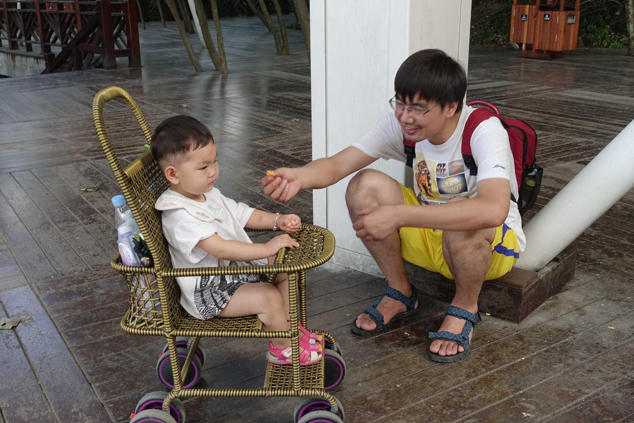 Kids in strollers