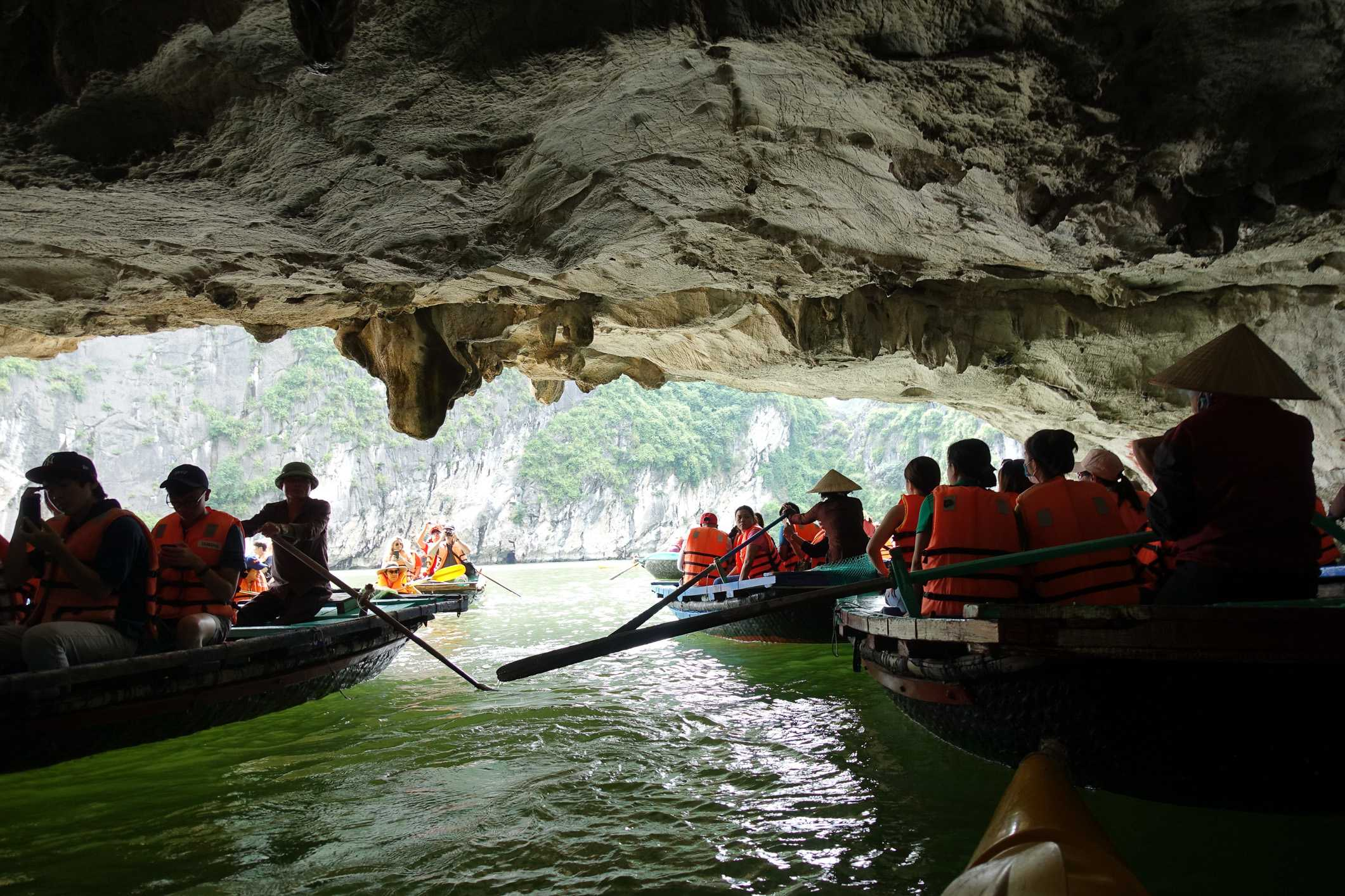 Kayaking in cave