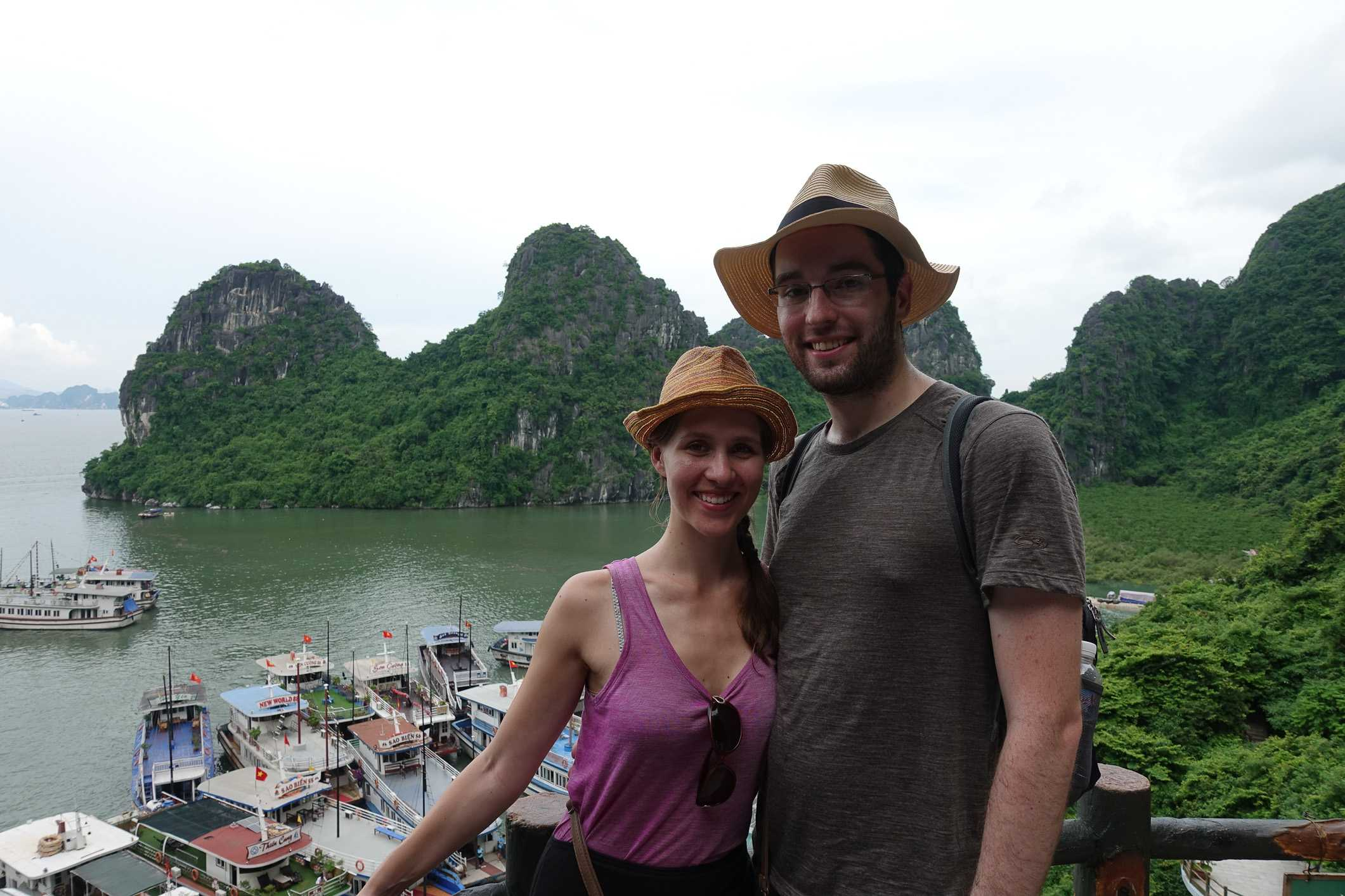 Us in Ha Long Bay