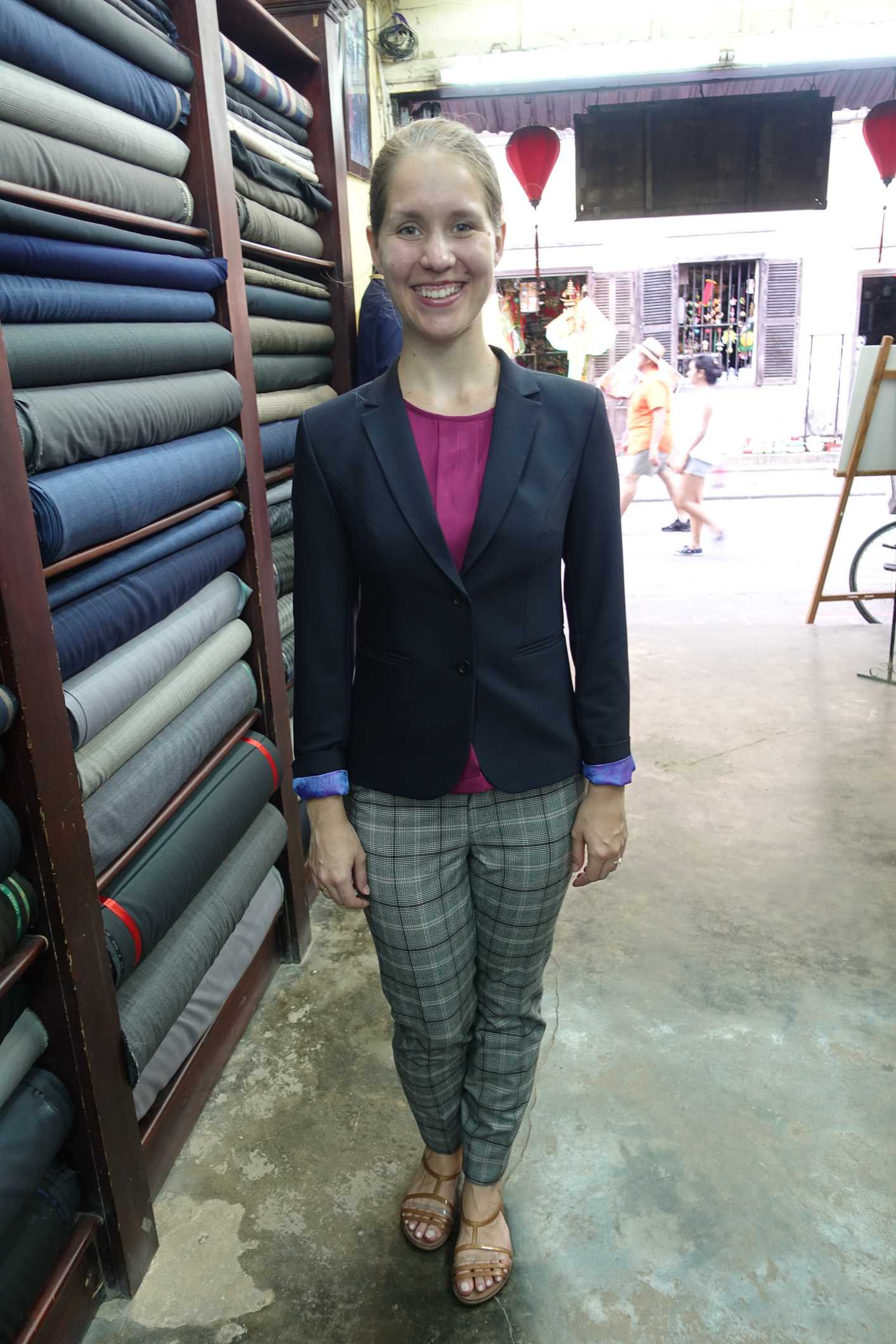 Tailoring clothes at Mr. Xe